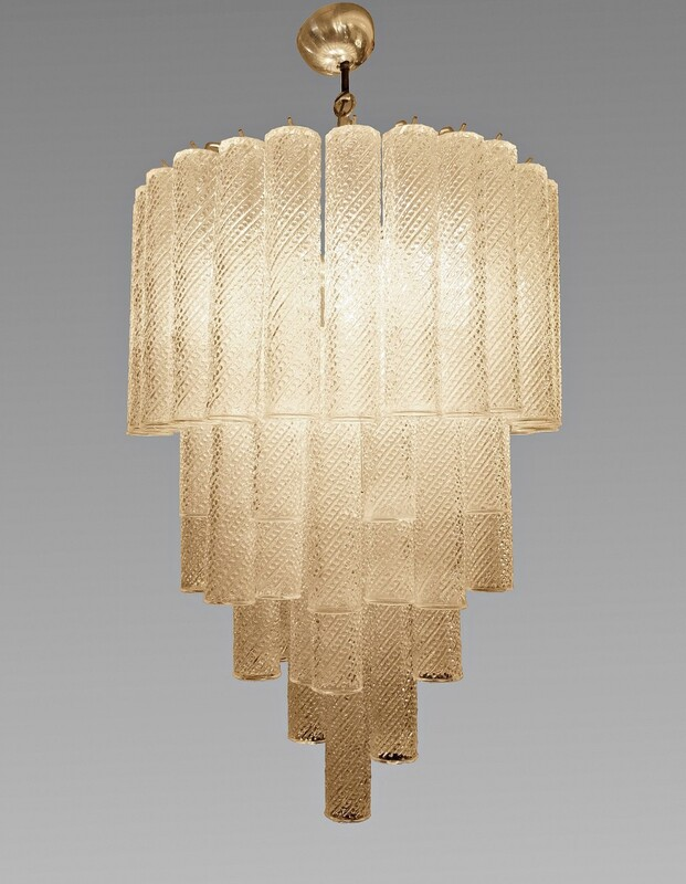 Murano Glass Tube Chandelier