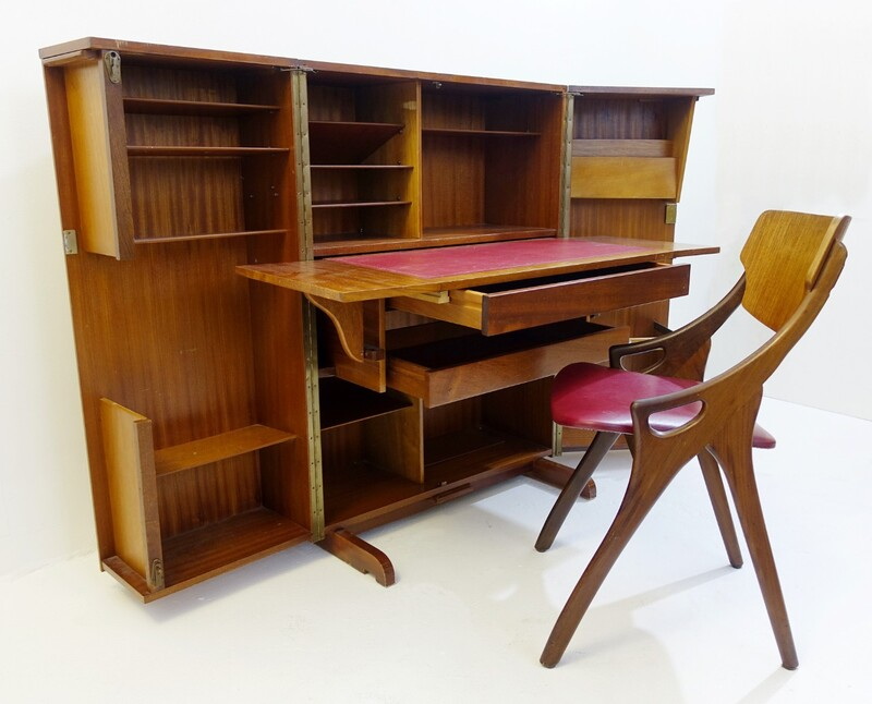 Newcraft 1960's Home Office Cabinet