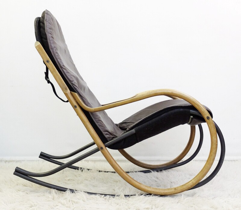 Nona rocking chair by Paul Tuttle for Strässle, 1970s