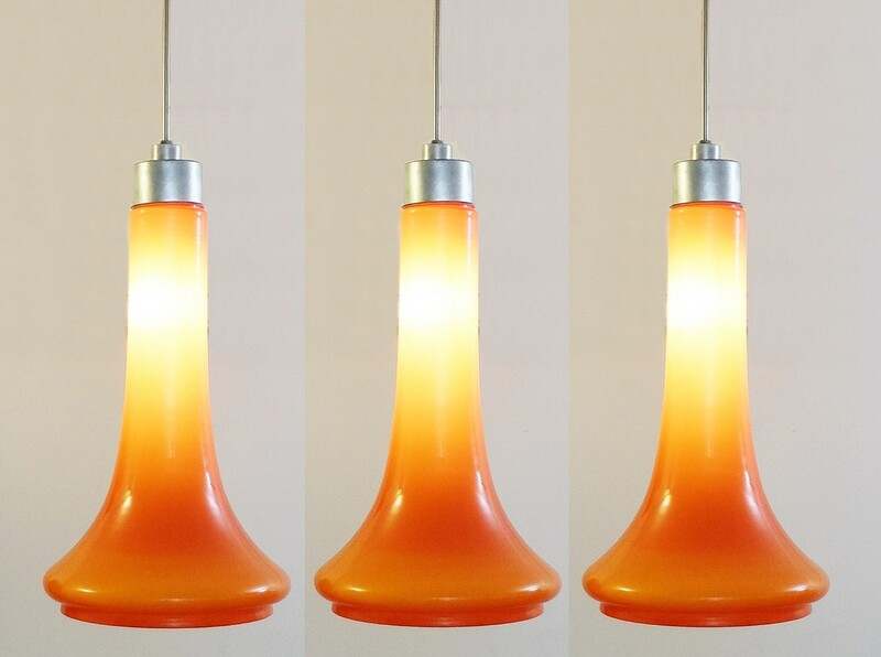 Orange Glass Pendant Light - 3 available
