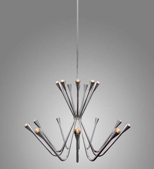 Oversized 1960s Chrome Chandelier