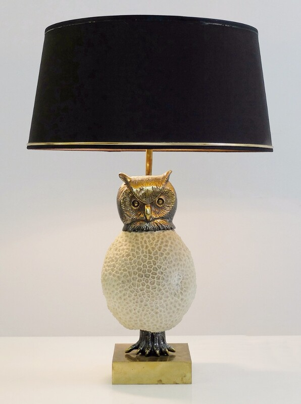 Owl Coral Lamp Attributed to Willy Daro
