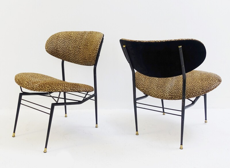 Pair in Italian cocktail chairs