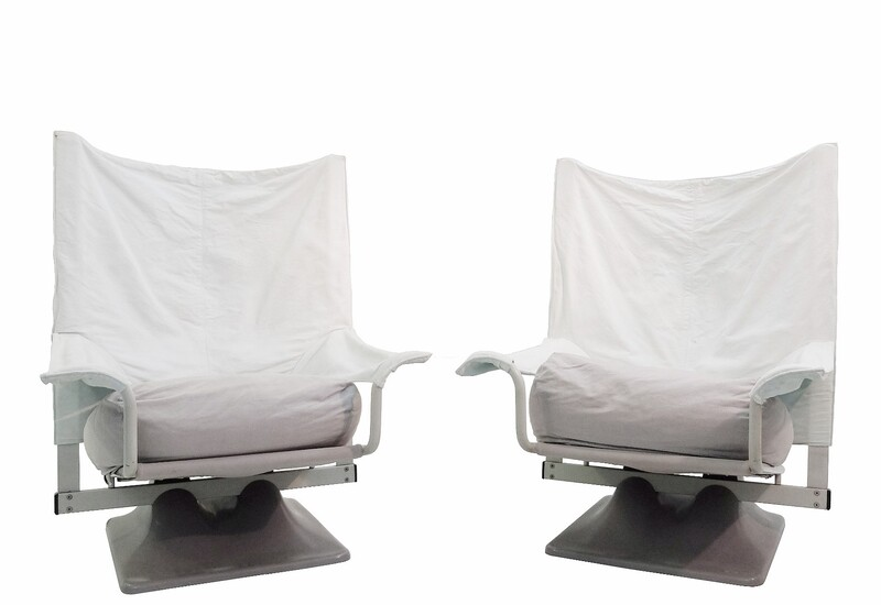 Pair Of AEO Armchairs By Paolo Deganello For Cassina, 1973