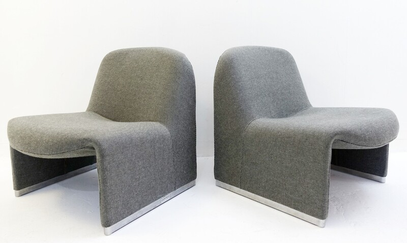 Pair of Alky Chairs Designed by Giancarlo Piretti for Castelli