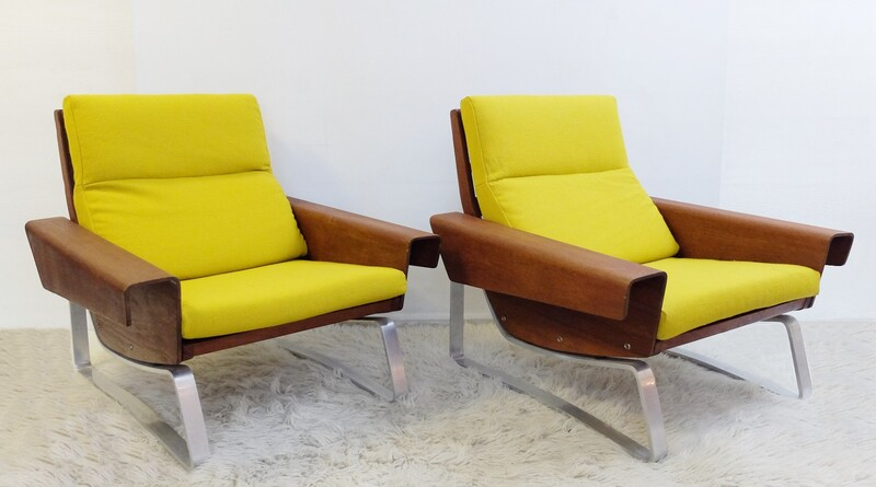Pair of armchairs att to Cornelis Zitman -  1960s