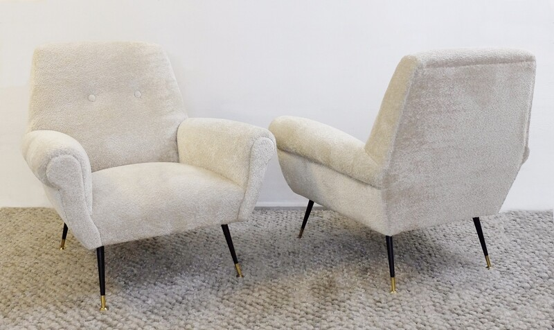 Pair Of Armchairs By Gigi Radice For Minotti -