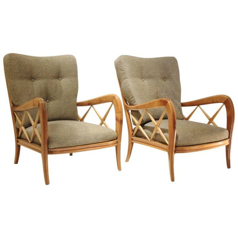 Pair of armchairs by Ulrich Guglielmo - New Pierre Frey Upholstery