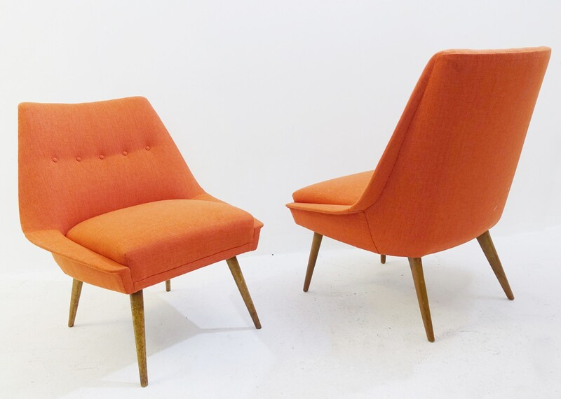 Pair of armchairs from the 50s new upholstery