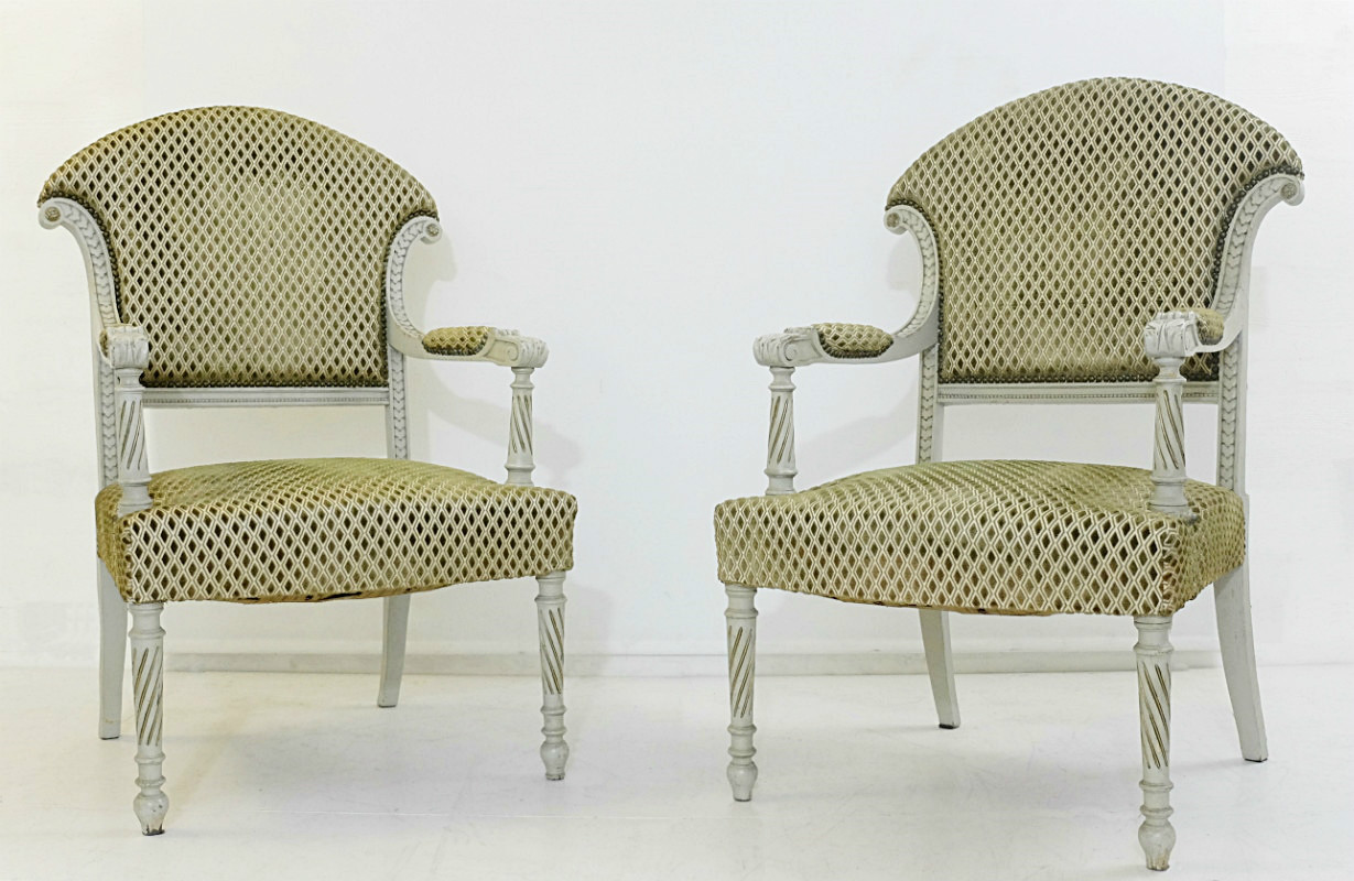Pair Of Armchairs Louis Xvi Style Armchair Seating