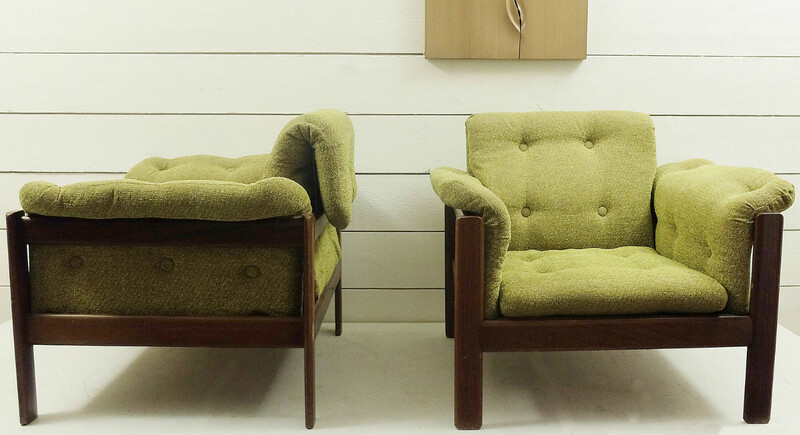 Pair Of Armchairs - Original Upholstery