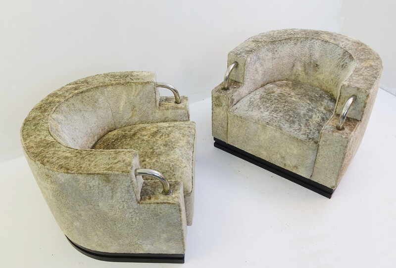 pair of art deco armchairs new velvet upholstery