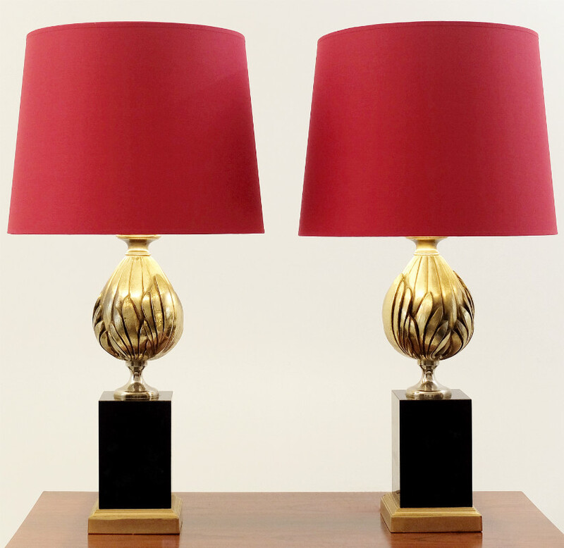 pair of artichoke lamps