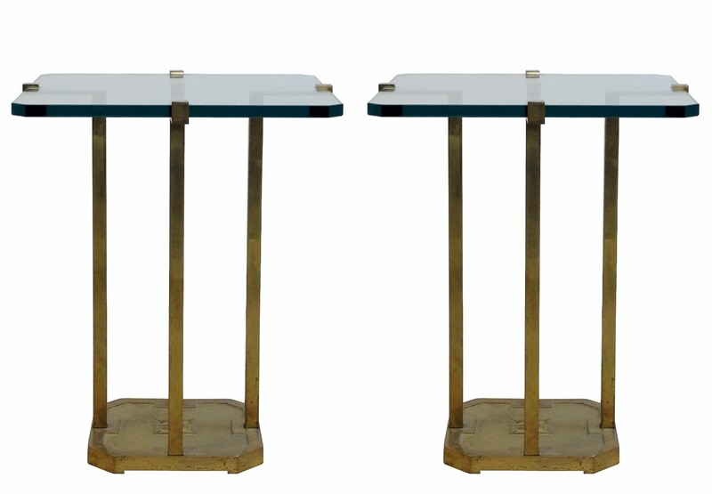 Pair of Brass Side Tables by Peter Ghyczy