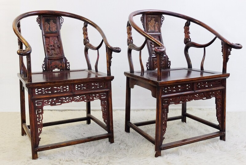Pair of Chinese Armchairs - circa 1900/1920