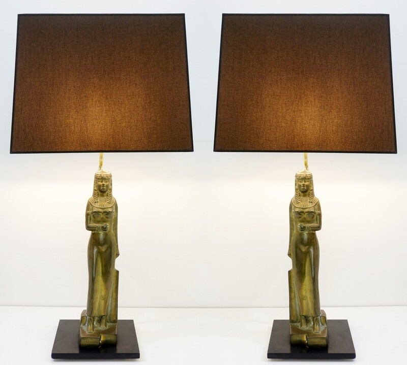 Pair of Egyptian Table Lamps