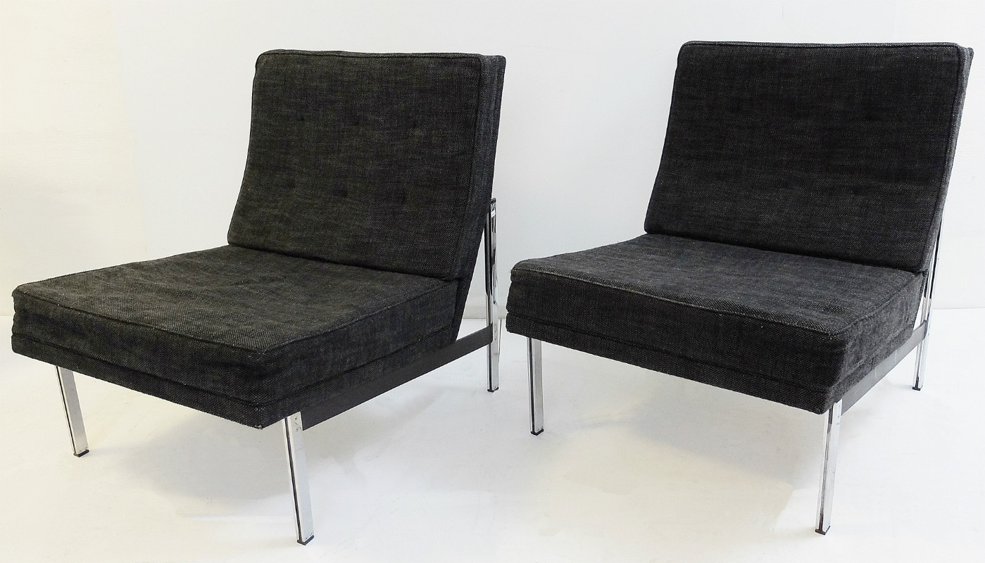 Pair Of Florence Knoll Quot Parallel Bar Quot Lounge Chairs