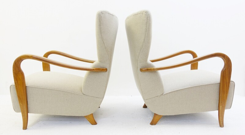 Pair of Guglielmo Ulrich armchairs - New Upholstery