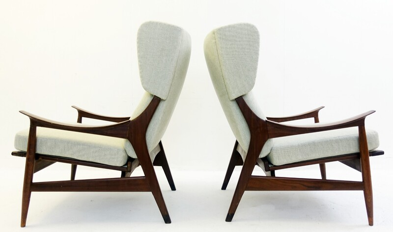Pair of High Back Armchairs by Peter Hvidt & Orla Mølgaard-Nielsen
