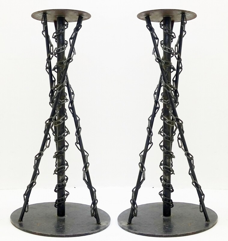 Pair of industrial pedestals