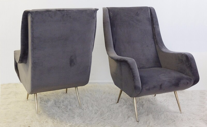Pair of italian armchair - new Upholstery