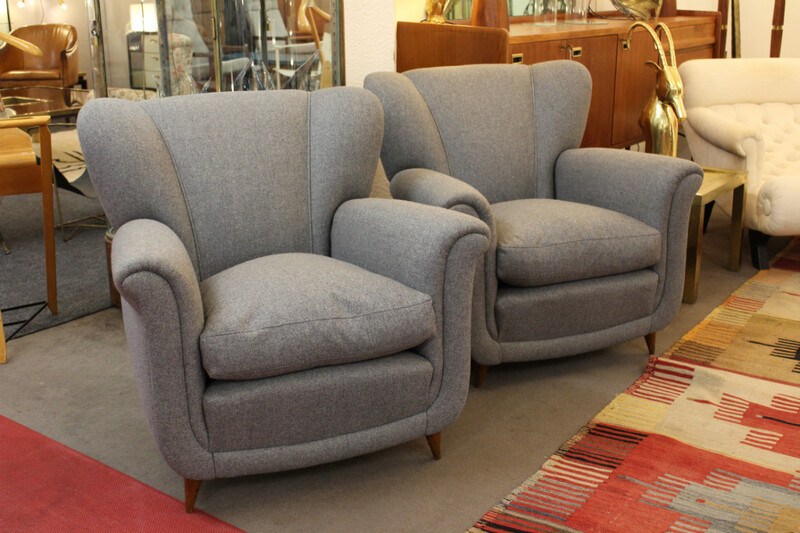 Pair of italian armchairs 50' at. to Guglielmo Ulrich