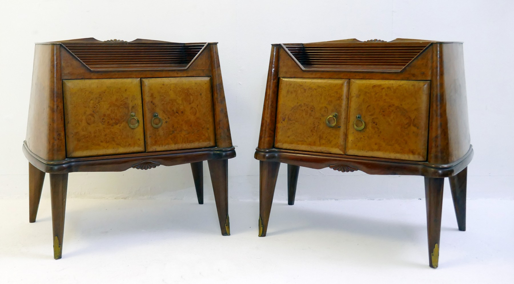 Pair Of Italian Art Deco Bedside Tables Jugendstil Items By