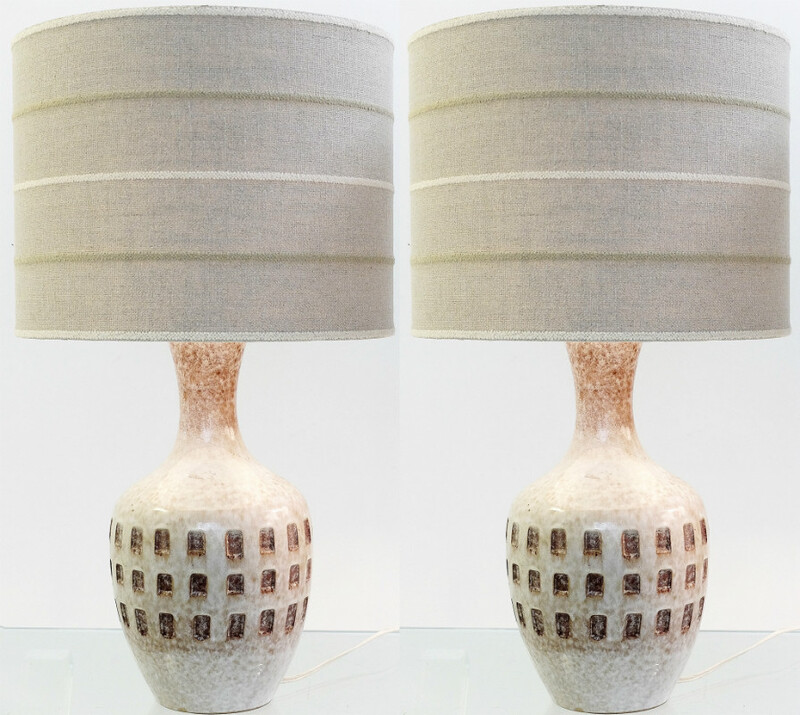 Pair of Italian Ceramic Lamps - c. 1960