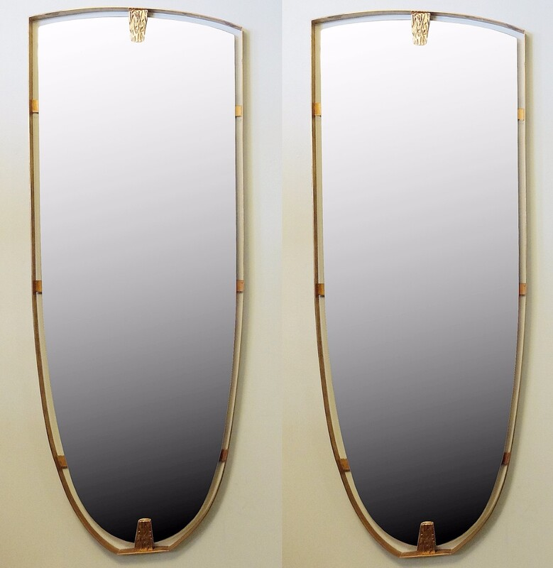 Pair Of Large brass Mirrors