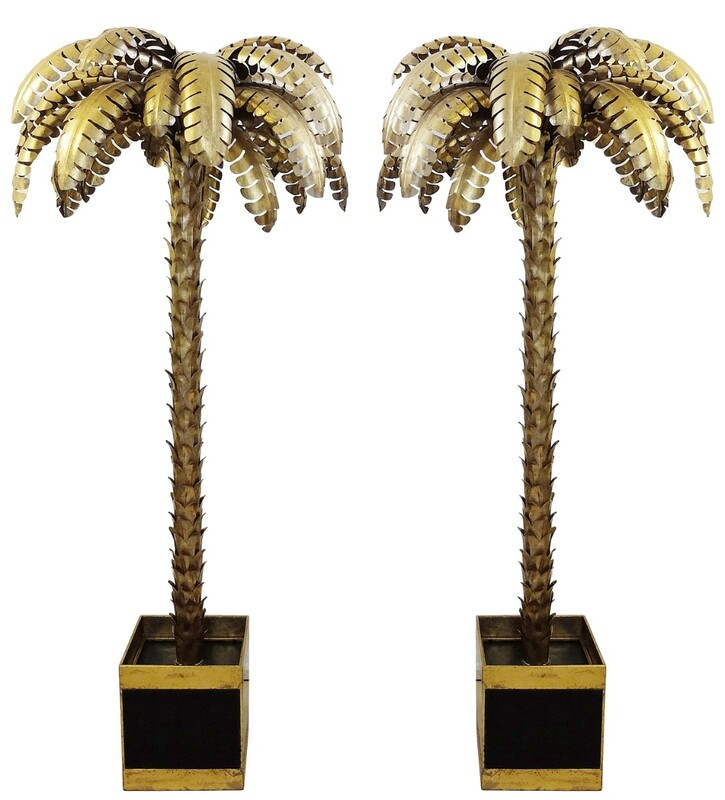 Pair of Large Palm Trees