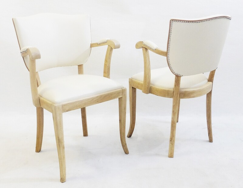 Pair of Maison Charles Duyver Bridge Armchairs -Belgium 1940s