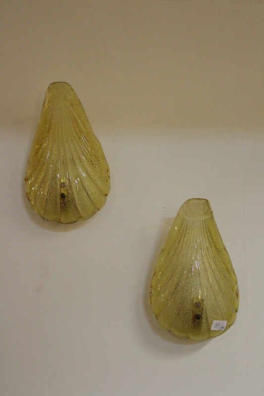 Pair of Murano wall lamps