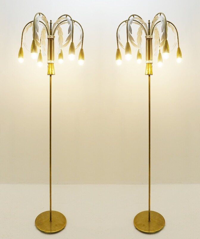 pair of Palm Floor Lamps