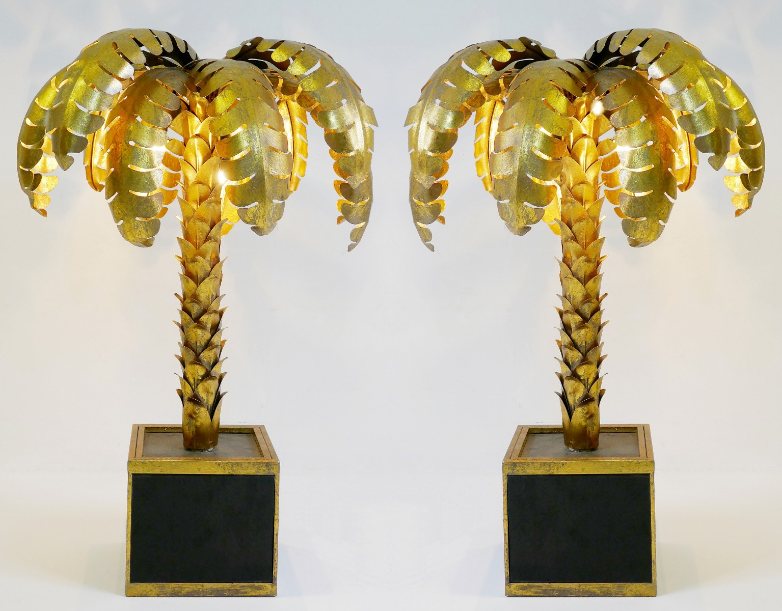 Pair Of Palm Tree Table Lamps Via Antica Recent Added