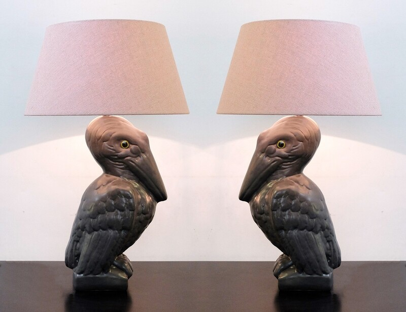 Pair of pelican table lamps