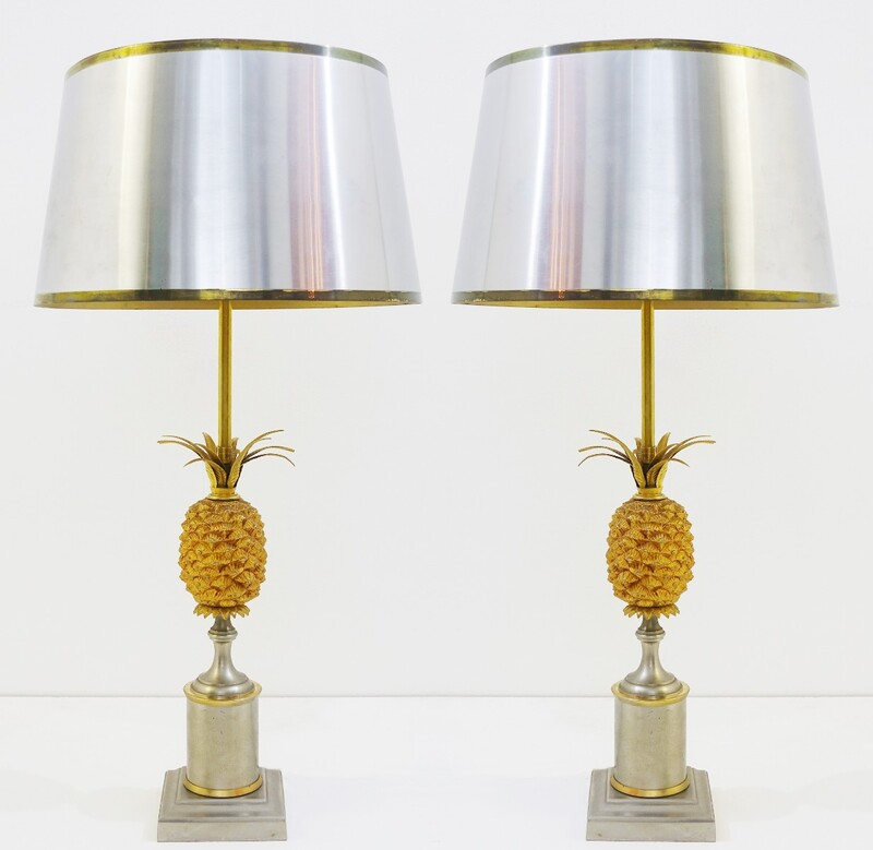 pair of pineapple lamps Jansen style
