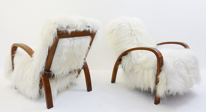Pair of sheep armchairs 1960s