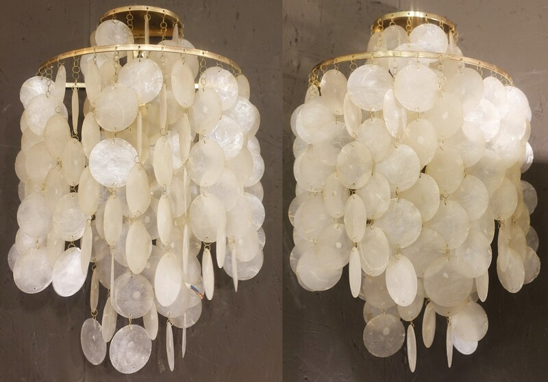 Pair of shell wall lamps model Fun2 WM by Verner Panton for J.Lüber Switzerland