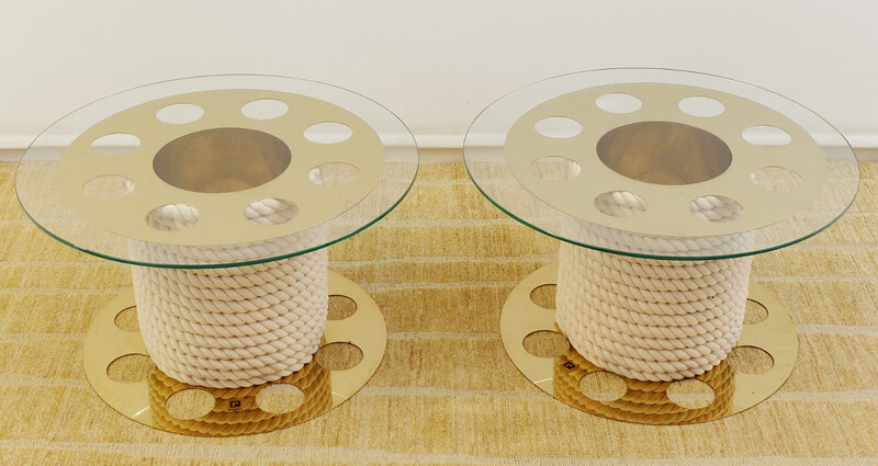 Pair of small tables - Paco Rabanne