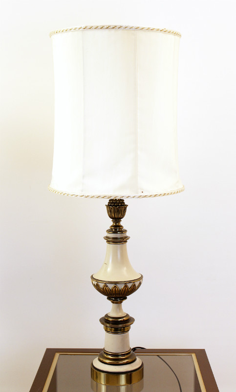 Pair Of Table Lamps Gilded Bronze