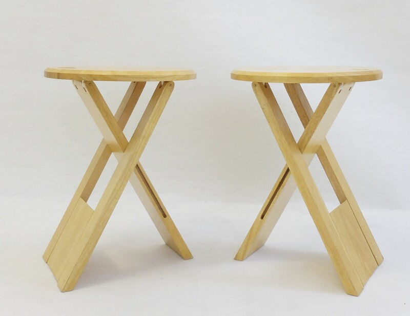 Pair of TS stools by Roger Tallon for Sentou - 1970s