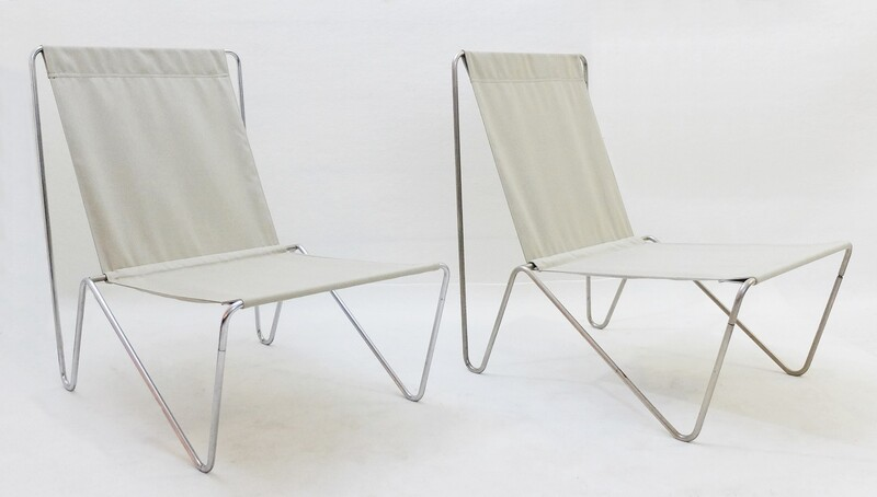 Pair of Verner Panton Bachelor Chairs - New Canvas - 2 pairs available