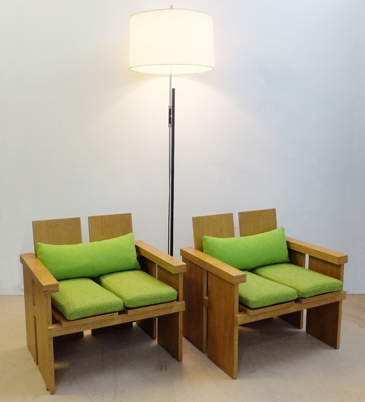 Pair of wood armchairs from Gunnar Magnusson