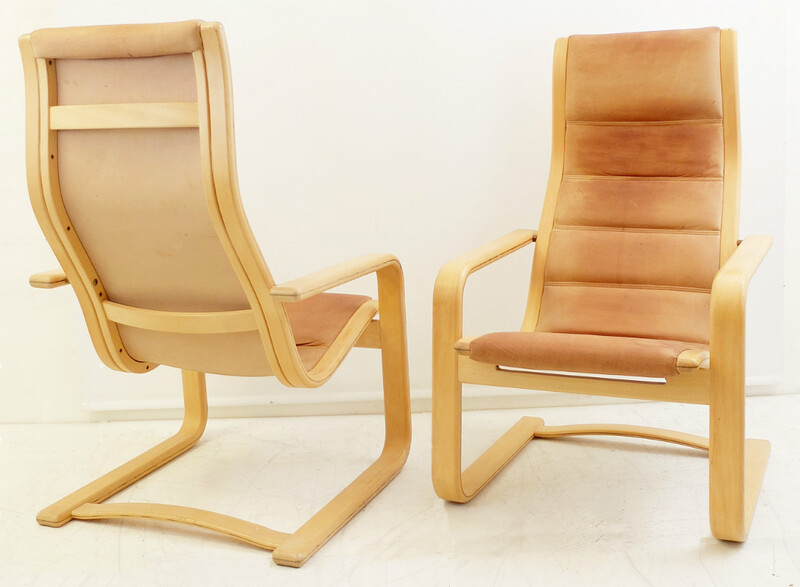 Pair Of Yngve Ekstrom Lounge Chairs - Sweden