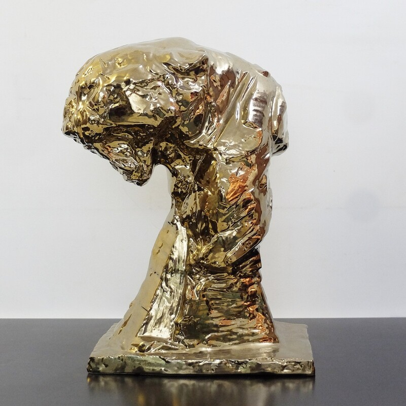 Patrick Villas for Royal Boch - Huge bronze ceramic panther head