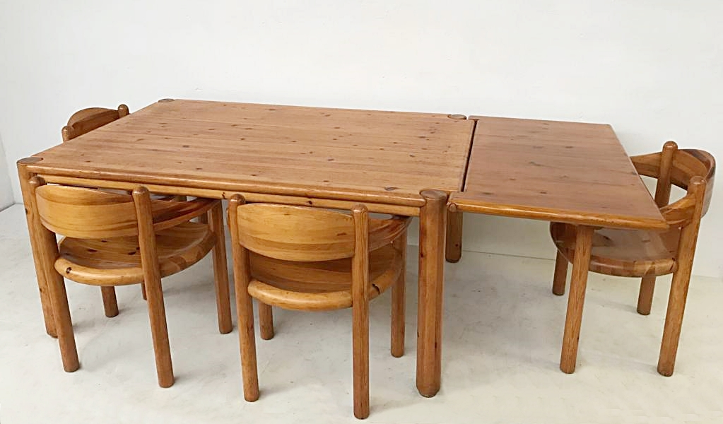 Pine Dining Set By Rainer Daumiller 4 Chairs Table Dining Room Items By Category European Antiques Decorative