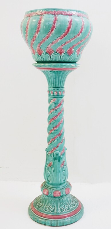 Planter Column in Glazed Ceramic