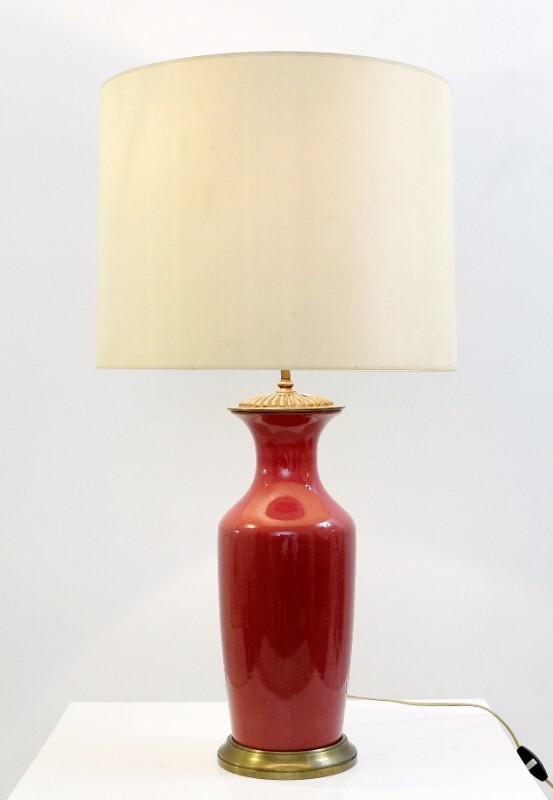 Red Glass Lamp