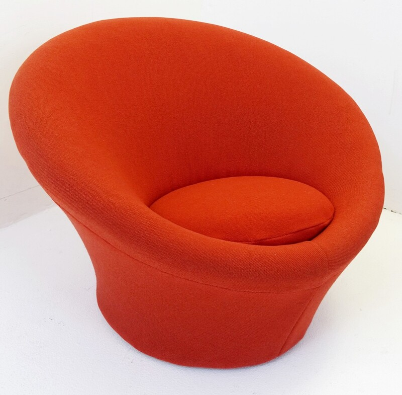 Red Pierre Paulin Mushroom Chair for Artifort, 1960