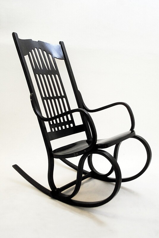Rocking Chair model no 824 by Gustav Siegel - Austria 1905